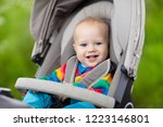 baby boy in warm colorful... | Shutterstock . vector #1223146801