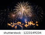 fireworks light up the sky with ... | Shutterstock . vector #1223149234