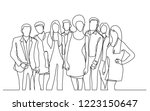continuous line drawing of... | Shutterstock .eps vector #1223150647
