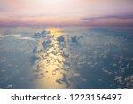 ocean at sunset or sunrise ... | Shutterstock . vector #1223156497