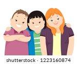 illustration of teenage girl... | Shutterstock .eps vector #1223160874