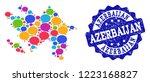 social network map of... | Shutterstock .eps vector #1223168827
