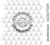 assortment grey badge with... | Shutterstock .eps vector #1223177224