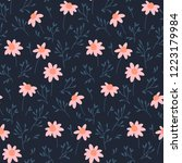 seamless vector pattern with... | Shutterstock .eps vector #1223179984