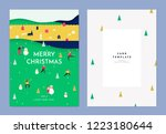 christmas greeting card... | Shutterstock .eps vector #1223180644
