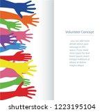 volunteer concept  free hands...   Shutterstock .eps vector #1223195104