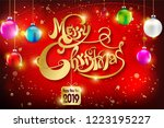 merry christmas everyone... | Shutterstock .eps vector #1223195227