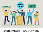 candidate politicians who make... | Shutterstock .eps vector #1223196487