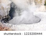 view of sulfur fumes coming out ...   Shutterstock . vector #1223200444