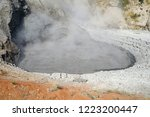 view of sulfur fumes coming out ...   Shutterstock . vector #1223200447