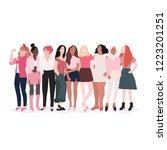group of strong women vector   Shutterstock .eps vector #1223201251