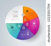 infographics design vector and... | Shutterstock .eps vector #1223201704