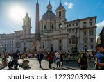 rome  italy   october 26  2018  ... | Shutterstock . vector #1223203204