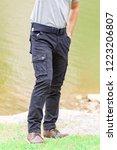 model wearing cargo pants or... | Shutterstock . vector #1223206807