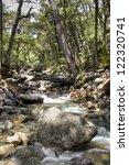 waterfall near the city of... | Shutterstock . vector #122320741