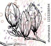 tropical  stripe  animal motif. ...   Shutterstock .eps vector #1223208544