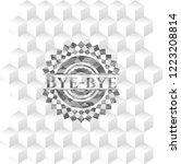 bye bye grey emblem with... | Shutterstock .eps vector #1223208814