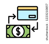 credit or debit card and dollar ...   Shutterstock .eps vector #1223210857