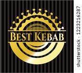 best kebab golden emblem | Shutterstock .eps vector #1223216287