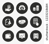 investments money vector icon.... | Shutterstock .eps vector #1223218684