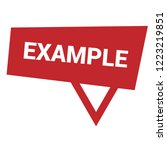 example sign label. features... | Shutterstock .eps vector #1223219851