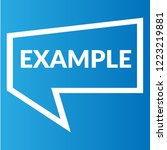 example sign label. features... | Shutterstock .eps vector #1223219881