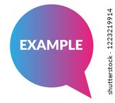 example sign label. features... | Shutterstock .eps vector #1223219914
