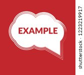 example sign label. features... | Shutterstock .eps vector #1223219917
