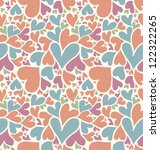 Seamless Doodle Hearts Pattern.