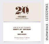20 years anniversary invitation ... | Shutterstock .eps vector #1223229061