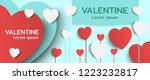 happy valentines day banner... | Shutterstock .eps vector #1223232817
