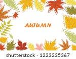 autumn horizontal frame...   Shutterstock .eps vector #1223235367