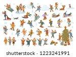 active cute winter merry... | Shutterstock .eps vector #1223241991