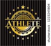 athlete shiny badge   Shutterstock .eps vector #1223245804