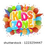 logo cartoon for children.... | Shutterstock .eps vector #1223254447