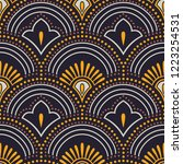 seamless vector wavy pattern | Shutterstock .eps vector #1223254531