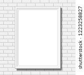 gallery interior with empty... | Shutterstock .eps vector #1223258827