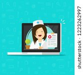 telemedicine vector... | Shutterstock .eps vector #1223262997