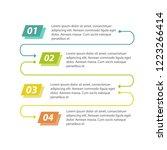 workflow 4 steps infographics.... | Shutterstock .eps vector #1223266414