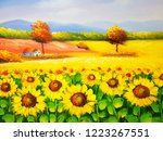 Colorful Sunflowers Oil...