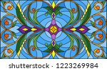 illustration in stained glass... | Shutterstock .eps vector #1223269984