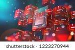 blockchain technology....   Shutterstock . vector #1223270944