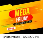 abstract dynamic mega friday... | Shutterstock .eps vector #1223272441
