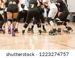 roller derby players compete... | Shutterstock . vector #1223274757