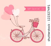 bicycle with balloons and a... | Shutterstock .eps vector #122327491