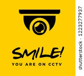 smile you are on cctv sphere | Shutterstock .eps vector #1223277937