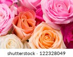 Stock photo assorted roses 122328049