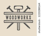 vintage carpentry  woodwork and ... | Shutterstock .eps vector #1223288164