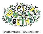 let's do it together. trendy... | Shutterstock .eps vector #1223288284