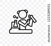 chemist vector linear icon... | Shutterstock .eps vector #1223289031